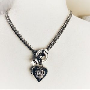 Juicy Couture Silver Toggle Heart Locket Necklace